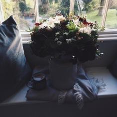 flowers and tea